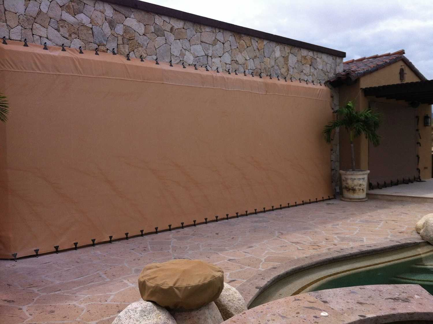 Large Lanai into stone top _ bottom